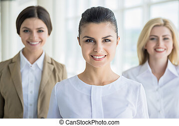 Women in business - Group of elegant female office workers...