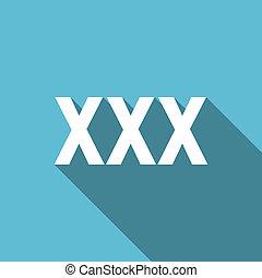 xxx flat icon porn sign