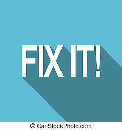 fix it flat icon