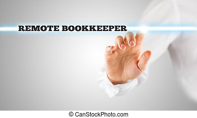 Highlighted Words Reading Remote Bookkeeper - Businessman...