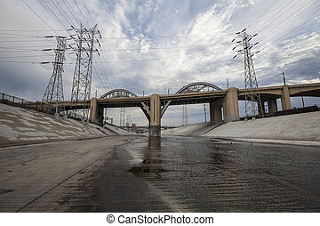 The Los Angeles River and 6th Street Bridge - The Los...