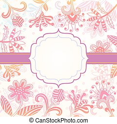 Decorative background with flowers.eps - Background with...