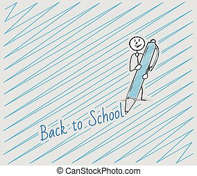 back to school with one person - back to school text written...