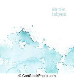 Watercolor background for layout Vector blue splashes eps 10...