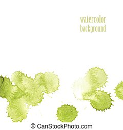 Watercolor background for layout Vector green drops eps 10