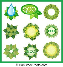 Set of decorative elements for eco