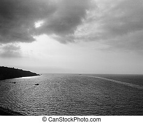 Sorrento seaview - Sea landscape from Sorrento, city in the...