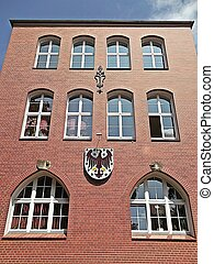 Municipality Templin - Brick building of the city...