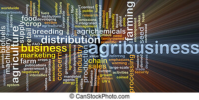 Agribusiness background concept glowing - Background concept...