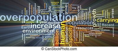 Overpopulation background concept glowing - Background...