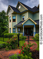 Victorian style house in Harpers Ferry, West Virginia.