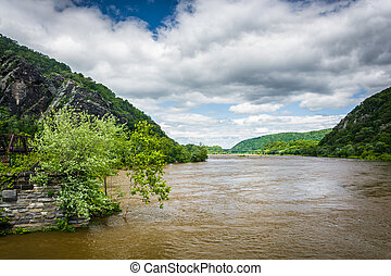 The Potomac River, in Harpers Ferry, West Virginia.