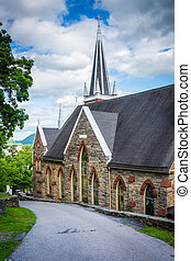 St Peters Roman Catholic Church, in Harpers Ferry, West...