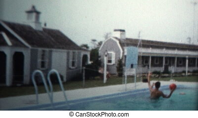 1959 - Pool Basketball Summer Fun - Original vintage 8mm...