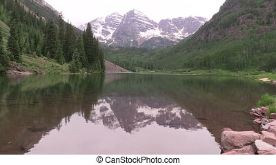Maroon Bells in Summer - the maroon bells aspen colorado in...