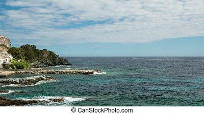 4K, Timelapse, Marine de Pietracorbara, Corsica, France