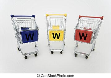 Internet Shopping carts - Three Internet- Shopping carts...
