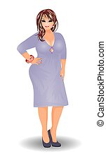 Sexual plus size woman in dress - Sexual plus size woman in...
