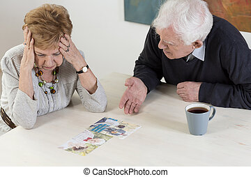 Elder couple's difficult conversation - Depressed woman and...