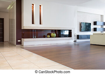 Contemporary sitting room in luxury detached house