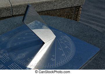Shadow clock - Sundial outdoor device. concept photo of...