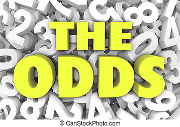 The Odds 3d Word Letters Number Background Chances Possible...