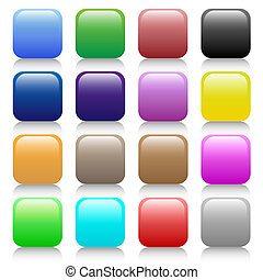 Buttons in different colors have all shades to give mouse...