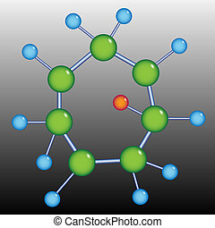 Molecule structure - 2D illustration of large molecule model...
