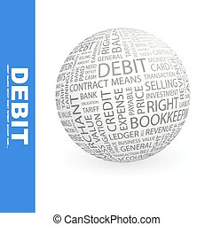 DEBIT Word cloud concept illustration Wordcloud collage