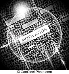 MOTIVATION Background concept wordcloud illustration Print...