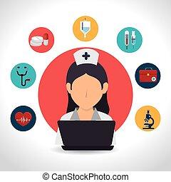 Medical design. - Medical digital design, vector...