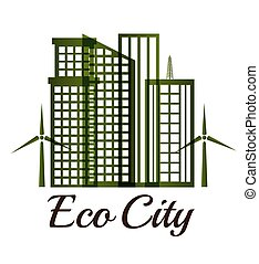 Ecolo city design - Eco city design, vector illustration eps...