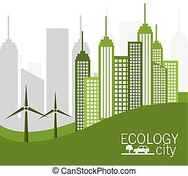 Ecolo city design. - Eco city design, vector illustration...
