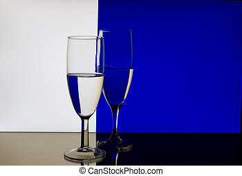 Wine Glass Refraction Pattern
