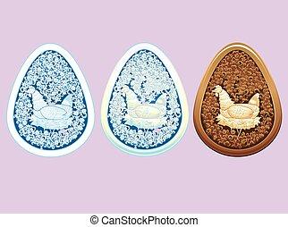 Carved Style Easter Egg Set - A lovely Easter egg inspired...