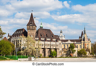 Vajdahunyad Castle in Budapest in beautiful park Picture of...