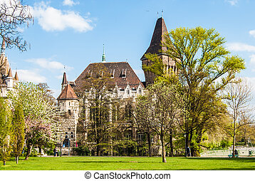 Vajdahunyad Castle in Budapest in beautiful park. Picture of...