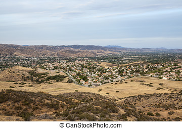 Dry Drought Southern California Suburbia