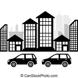 City design - City design over white background vector...