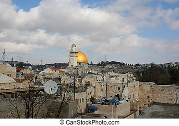 View Jerusalim, Israel - View on the Mosque in old part of...