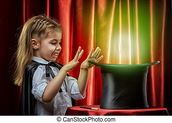 magician - the little magician does tricks