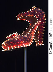 Famous silver slipper on Fremont Street - Famous silver...