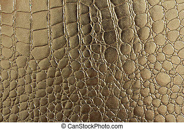 Seamless pattern of crocodile textured leather - A portrait...
