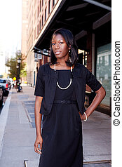 African American Business Woman - An African American...