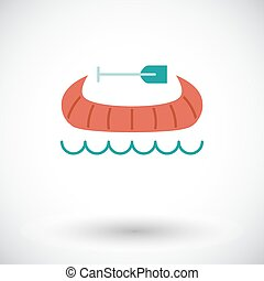 Canoe icon - Canoe Flat vector icon for mobile and web...