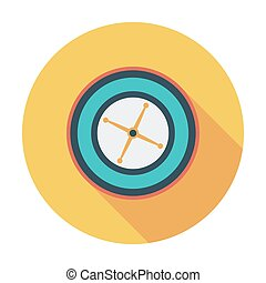 Roulette. Flat vector icon for mobile and web applications....