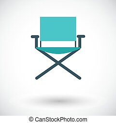 Camping chair. Flat vector icon for mobile and web...