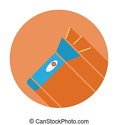 Flashlight. Flat vector icon for mobile and web...