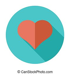 Card suit - Suit of heart. Flat vector icon for mobile and...