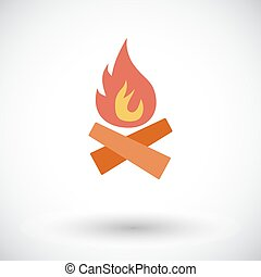 Bonfire. Flat vector icon for mobile and web applications....